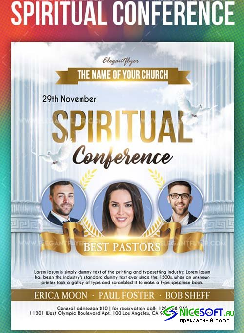 Spiritual Conference V9 2018 Flyer PSD Template