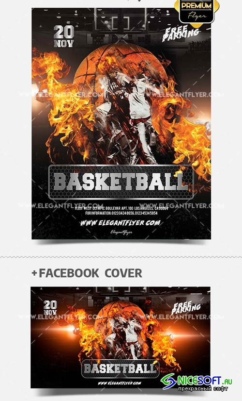 Basketball V51 2018 PSD Flyer Template