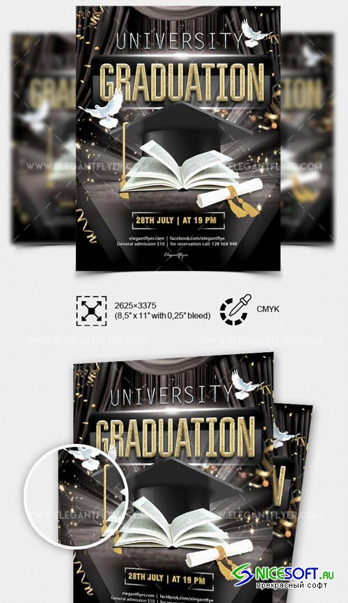 University Graduation V4 2018 Flyer in PSD
