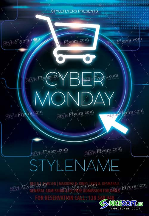 Cyber Monday V30 2018 Flyer PSD Template
