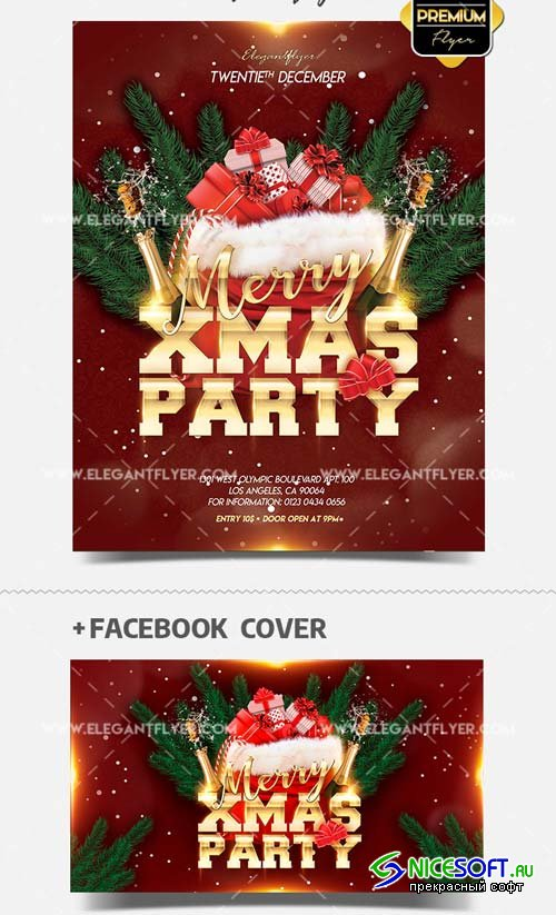 Xmas Club Night V30 2018 Flyer PSD Template