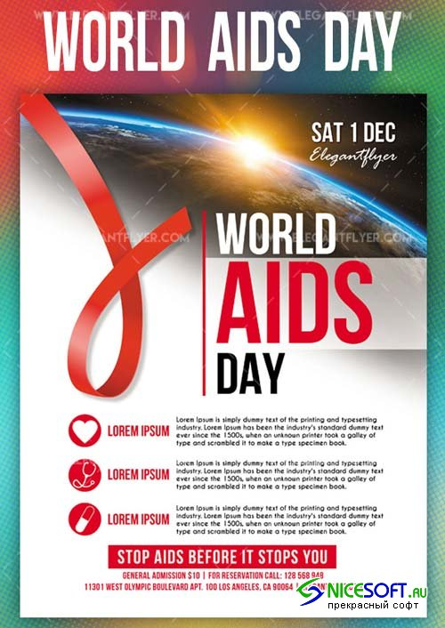 World AIDS Day V7 2018 Flyer PSD Template