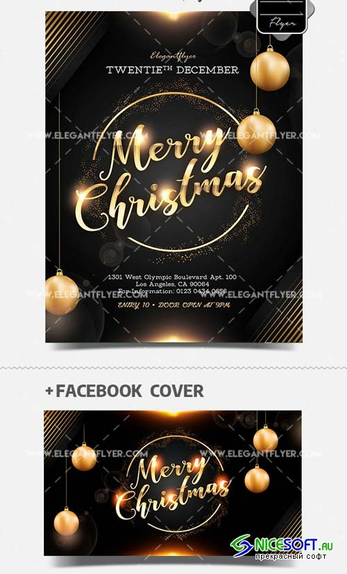 Night Club Christmas Night V37 2018 PSD Flyer