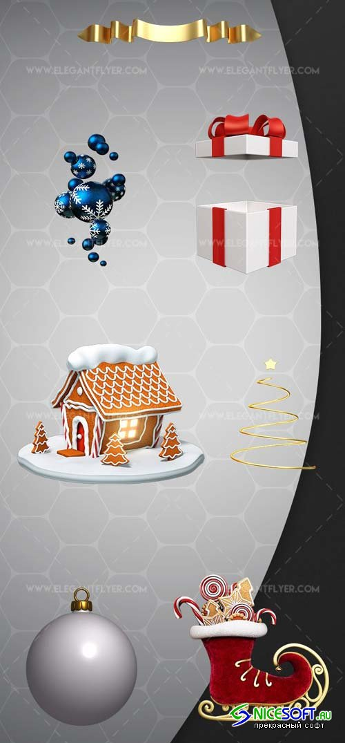 Christmas Pack V30 2018 3d Render Templates