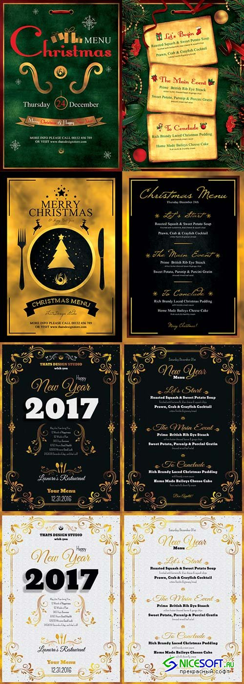 New Year Menu V2 3n1 2018 Template
