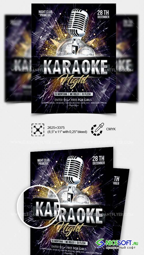 Karaoke Night V60 2018 Flyer PSD Template