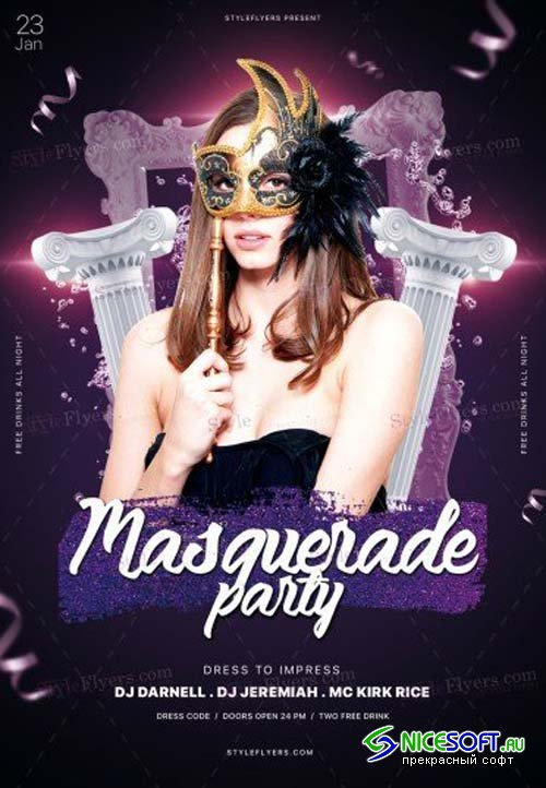 Masquarade Party V47 2018 PSD Flyer Template