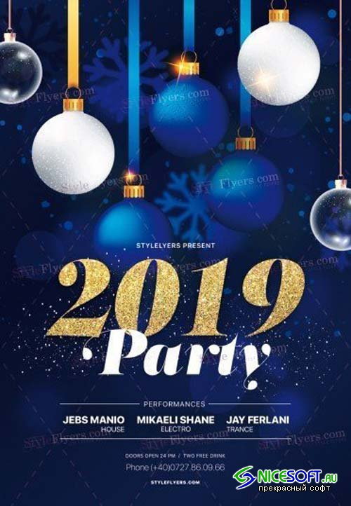 2019 Party V74 2018 PSD Flyer Template