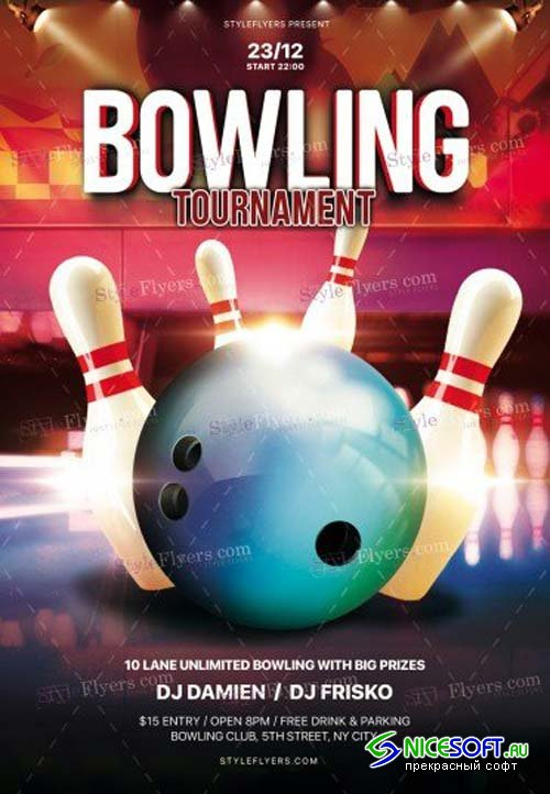 Bowling V29 2018 PSD Flyer Template