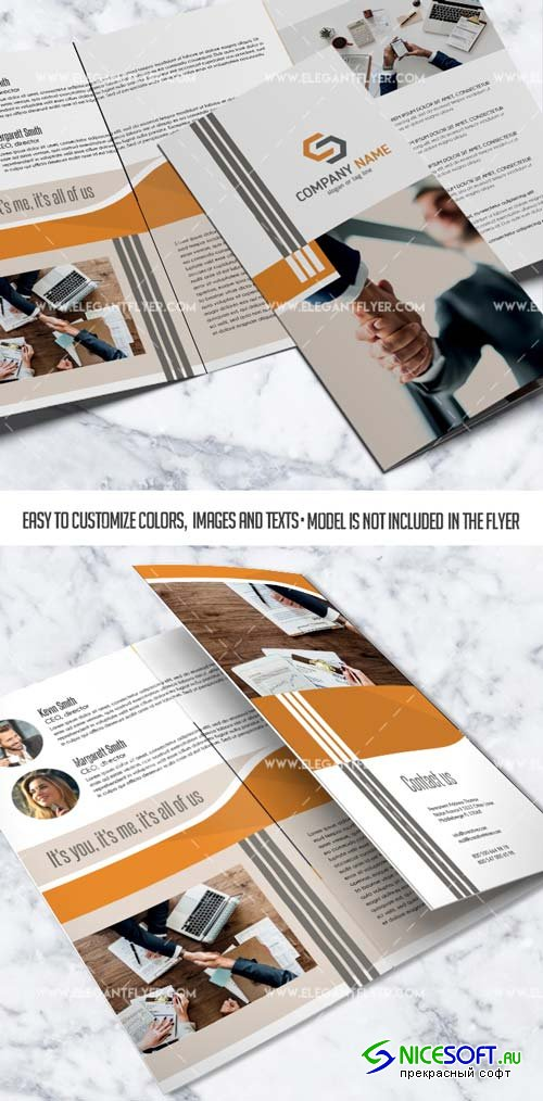 A4 V1 2018 Tri-Fold Business Brochure in PSD