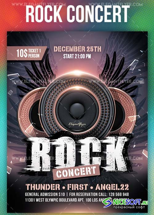 Rock Concert V44 2018 Flyer PSD Template