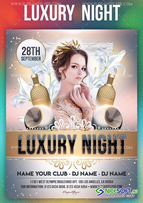 Luxury Night V1 2019 Flyer PSD Template