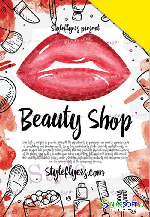Beauty Shop V1 2019 Flyer PSD