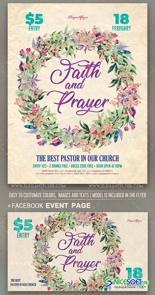 Faith and Prayer V1 2019 Flyer PSD Template