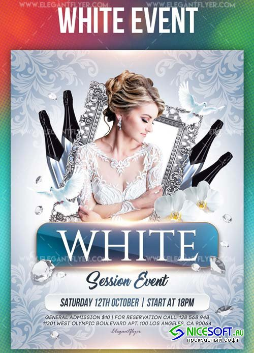 White Event V1 2019 Flyer PSD Template