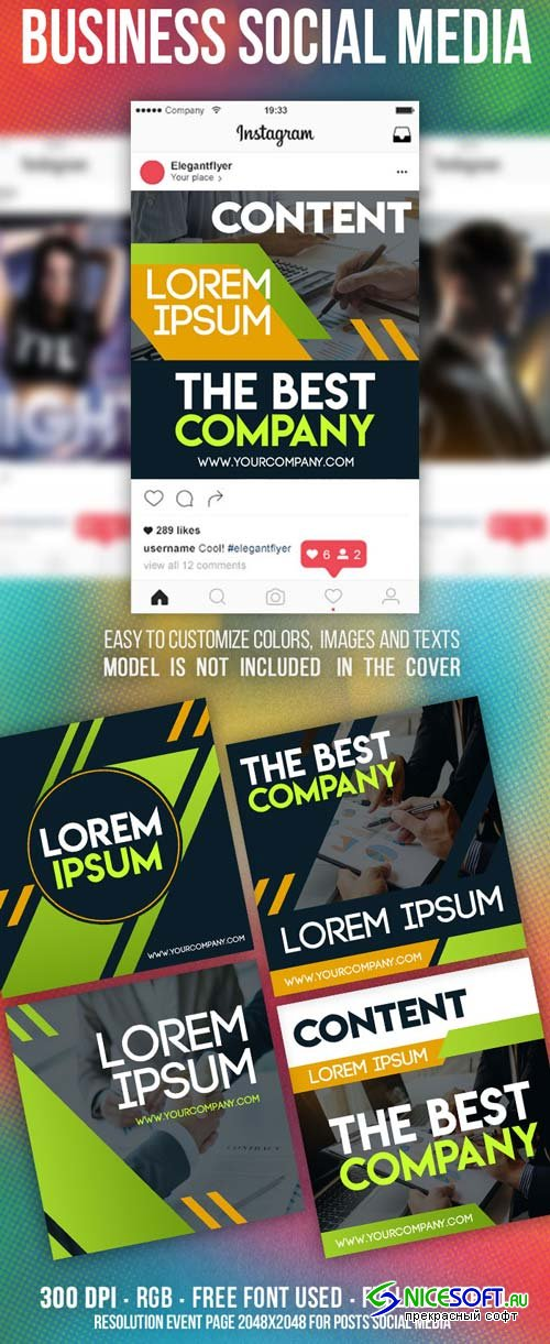 Business Social Media V1 2019 Templates in PSD