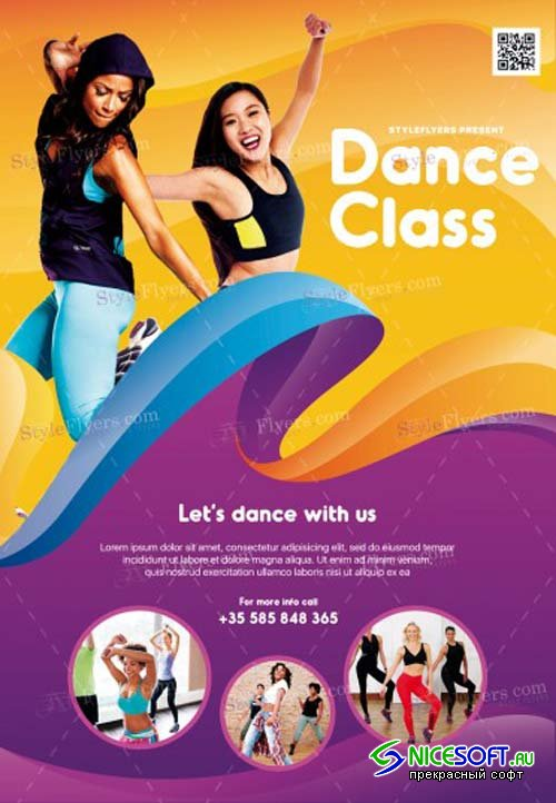 Dance Class V1 2019 PSD Flyer Template