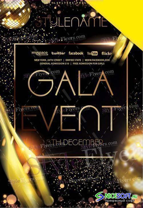 Gala Event V1 2019 PSD Flyer Template