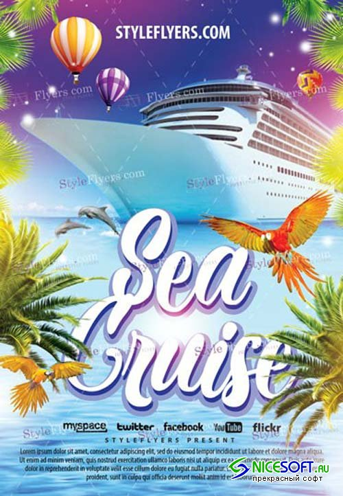 Sea Cruise V1 2019 PSD Flyer Template