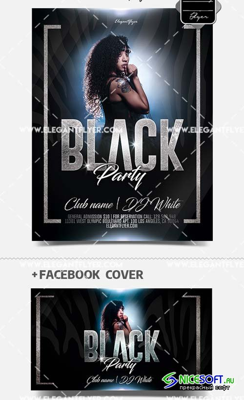 Black Mood V1 2019 PSD Flyer Template + Facebook Cover + Instagram Post