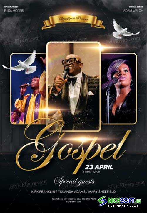 Gospel V3 2019 PSD Flyer Template