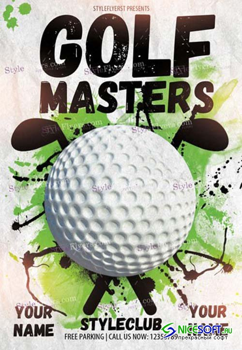 Golf Masters V1 2019 PSD Flyer Template
