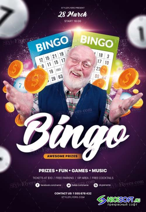 Bingo V2 2019 PSD Flyer Template