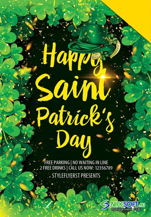 St. Patrick's Day Flyer V2 2019 PSD Template