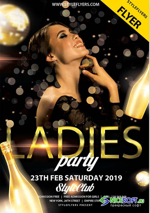 Ladies Night V5 2019 PSD Flyer Template