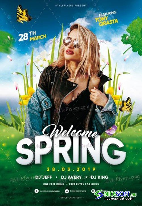 Spring V1 2019 PSD Flyer Template