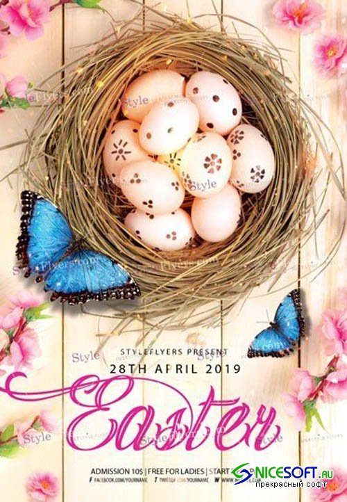 Easter V2 2019 PSD Flyer Template