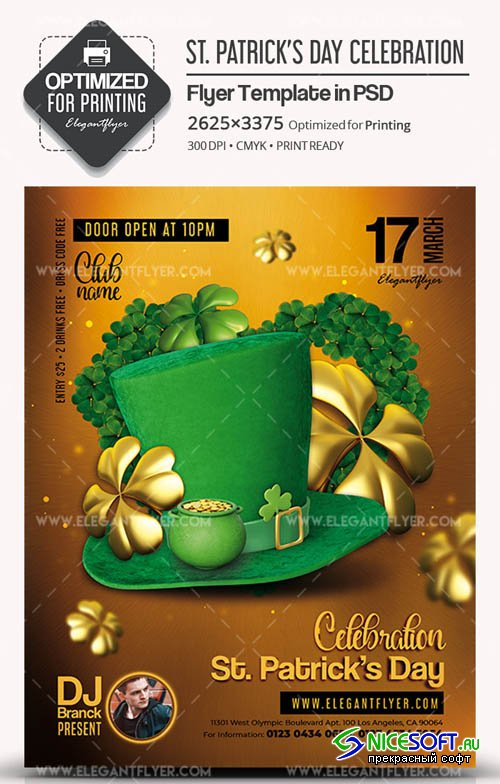 St. Patricks Day Celebration V15 2019 Flyer PSD Template