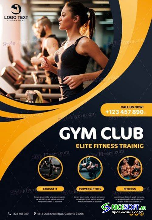 GYM V6 2019 PSD Flyer Template