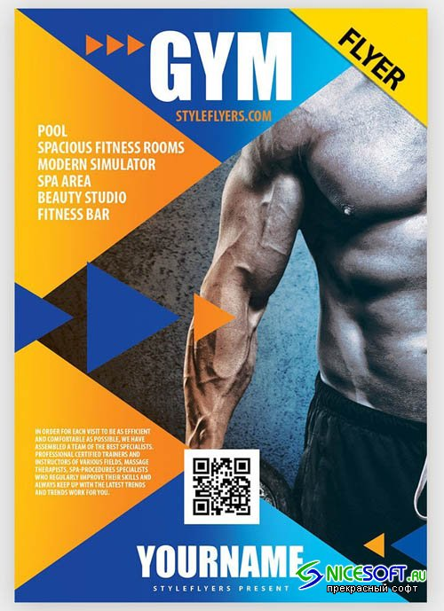 GYM V7 2019 PSD Flyer Template
