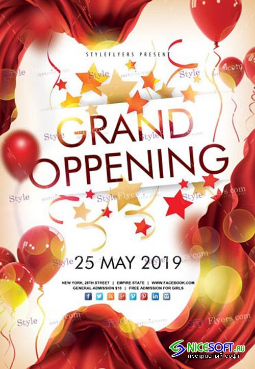 Grand Oppening V7 2019 PSD Flyer Template