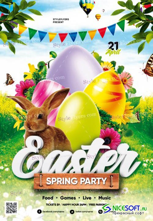 Easter V14 2019 PSD Flyer Template