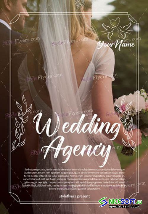 Wedding Agency V10 2019 PSD Flyer Template