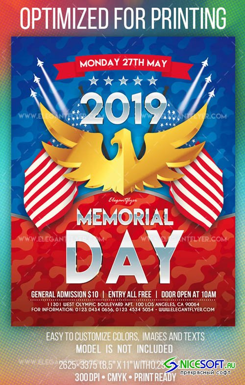 Memorial Day V3 2019 Flyer PSD Template