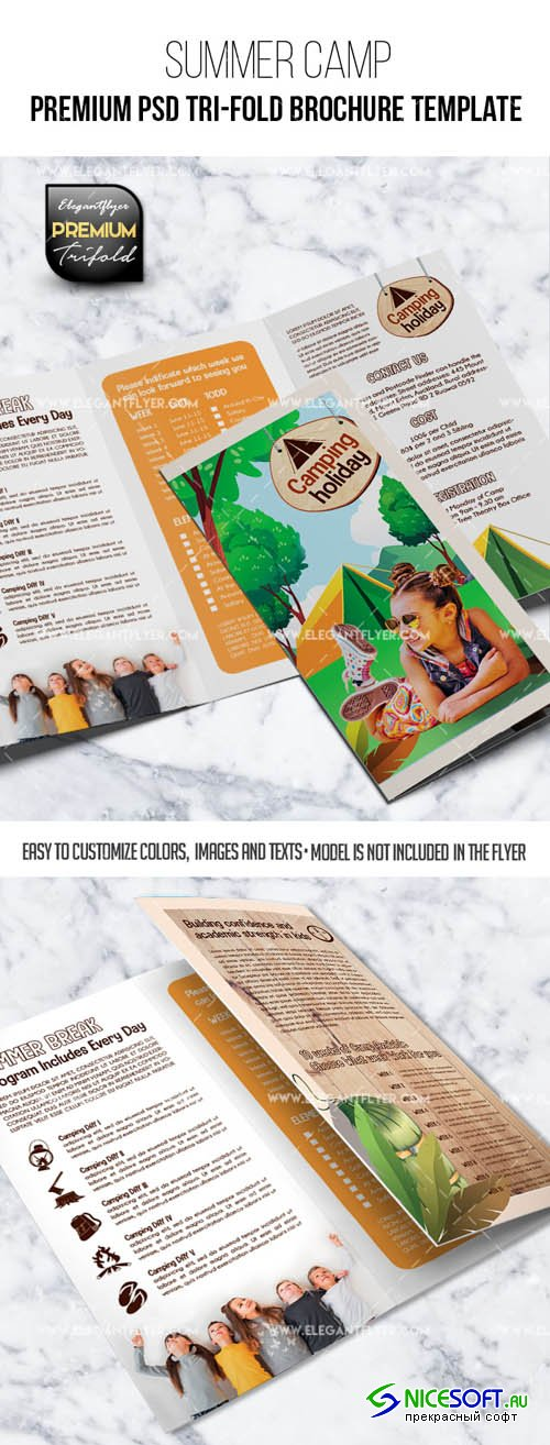 Summer Camp V2 2019 Tri-Fold Brochure