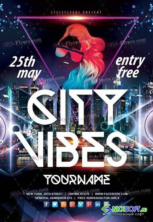 City Vibes V1 2019 PSD Flyer Template