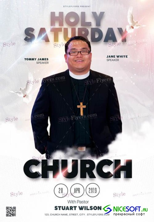 Holy Saturday Church V1 2019 PSD Flyer Template