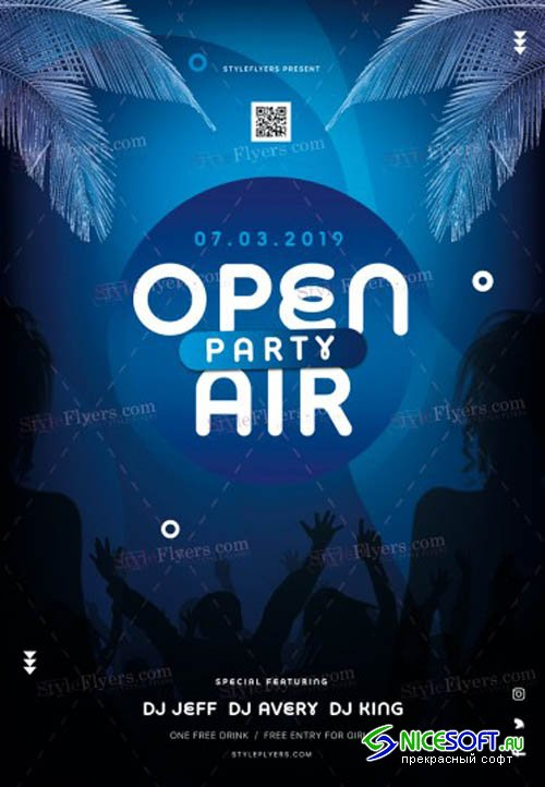 Open Air Party V1 2019 PSD Flyer Template