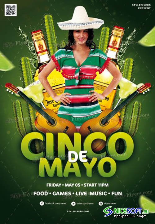 Cinco De Mayo V12 2019 PSD Flyer Template