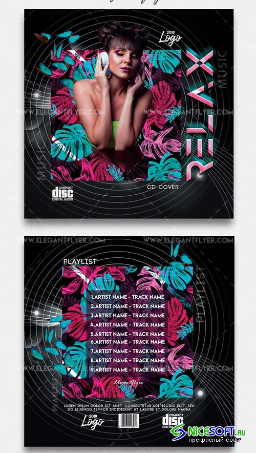 Relax V1 2019 CD Cover PSD Template