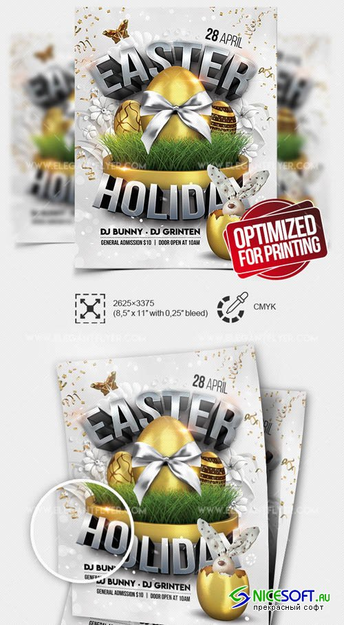 Easter Holiday V15 20119 Flyer PSD Template