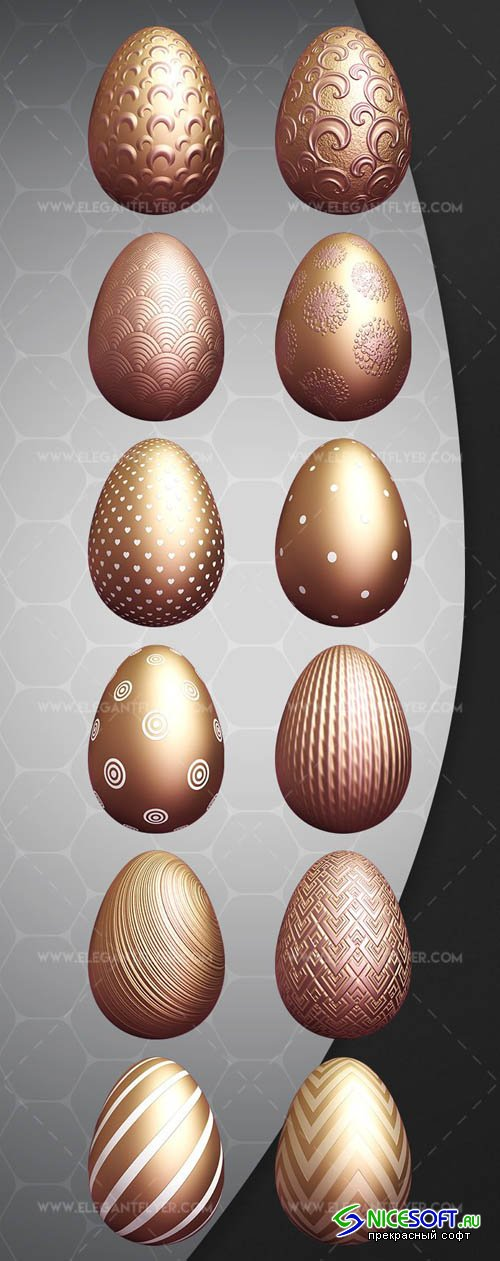 Easter Eggs V1 2019 3d Render Templates
