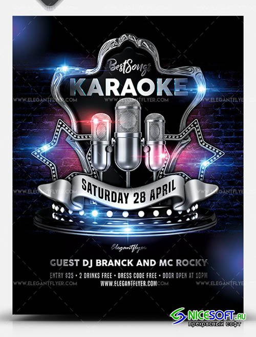 Karaoke Best Songs V1 2019 PSD Flyer Template