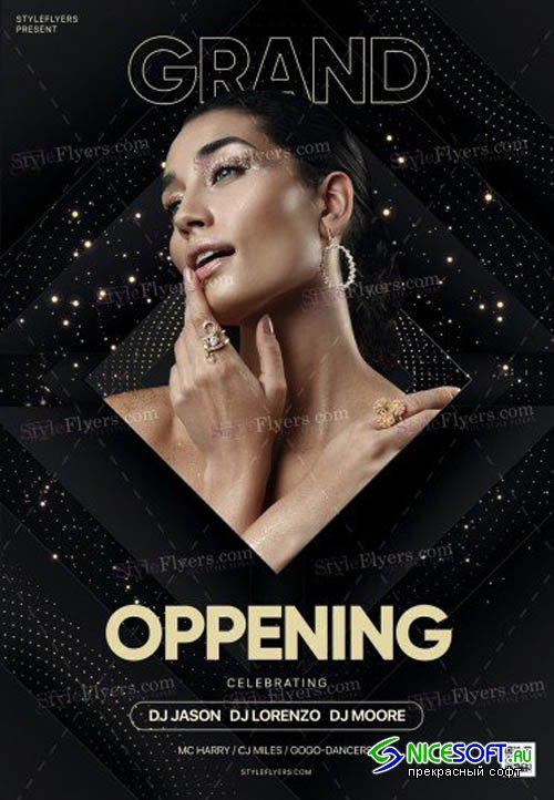 Grand Oppening V9 2019 PSD Flyer Template
