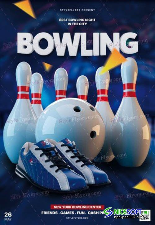 Bowling V5 2019 PSD Flyer Template