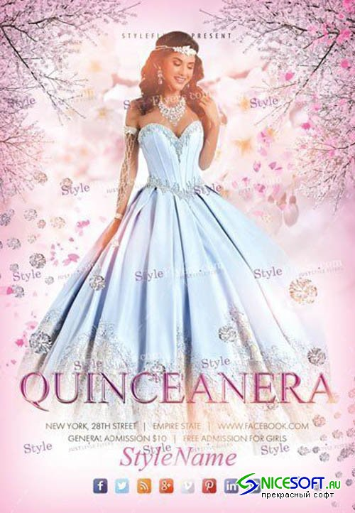 Quinceanera V4 2019 PSD Flyer Template
